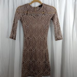 LOVE J Crochet Cocktail Dress